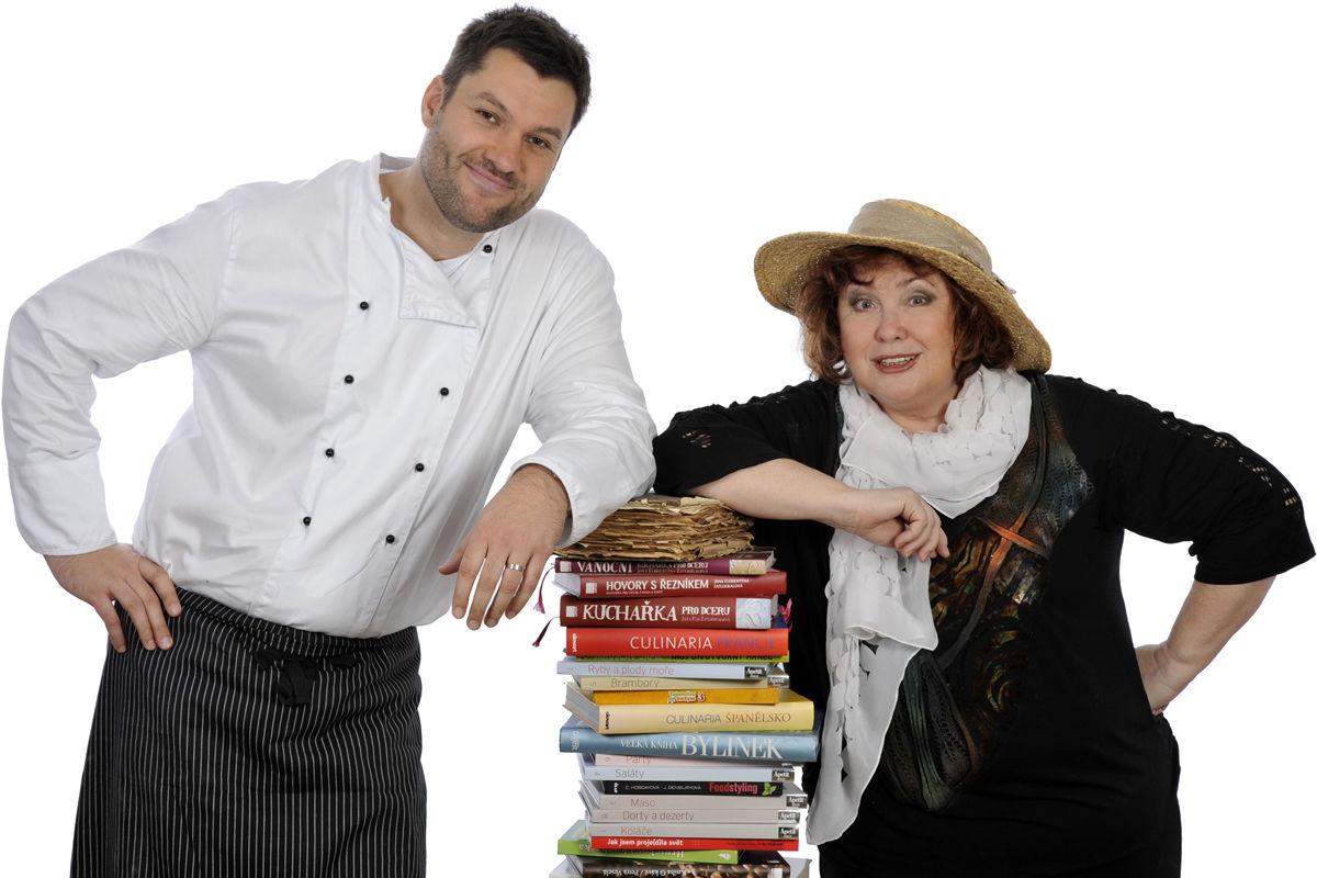 Obrázek Pochoutky na talíři, Talk show s ochutnávkou dobrého jídla - moderátoři…